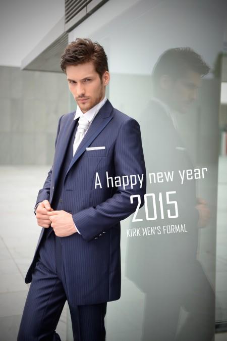 2015新年のご挨拶、ネイビータキシード
