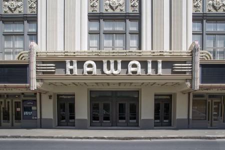 ハワイシアターでタウン撮影